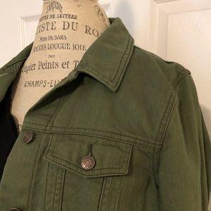 Old Navy olive green denim jacket. NWOT. Sz large